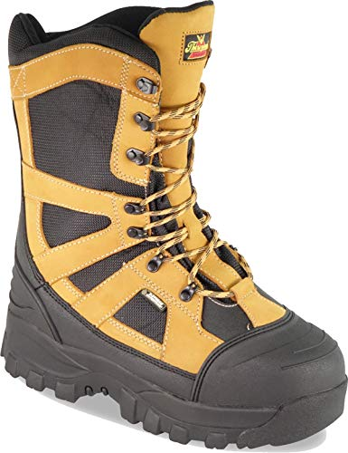 Thorogood 861-4071 Men's Endeavor Extreme 12'' Waterproof Snow Boot, Black & Tan - 11.5 W US