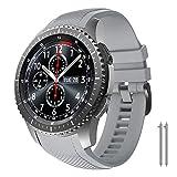 NotoCity Cinturino per Samsung Gear S3 Classic/Frontier/Galaxy Watch 46mm, Cinturini di Ricambio in Silicone 22mm per Gear S3 Classic / S3 Frontier/Galaxy Watch 46mm (Grigio Scuro)