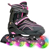 Sowume Adjustable Roller Blades Skates Girls, Boys and for Kids, Adults; Outdoor Inline Skates for Women and Men...
