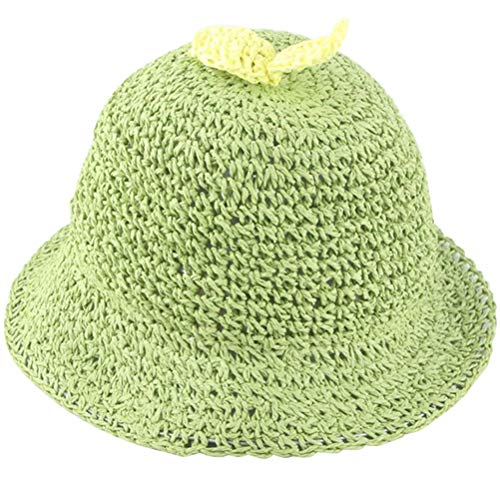 PRETYZOOM Lovely Bean Sprouts Sun Protection Hat Outdoor Activities Cap Creative Hat Straw Hat for Kids Childern Baby (Green)