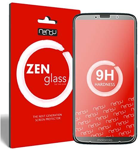 nandu I ZenGlass Pellicola Protettiva in Vetro Compatibile con Motorola Moto Z3 Play I Protezione Schermo 9H I (più Piccolo del Display Curvo)