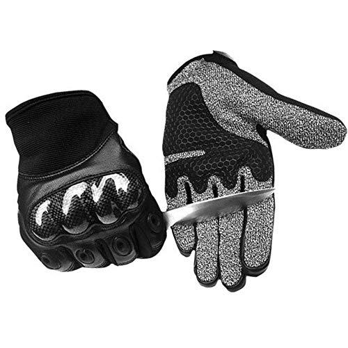 KPTKP Motorrad-Handschuhe Winter, Wintermotorradhandschuh Professional Snug Fit Guten Griff Lange Stulpe Gut genähte Handschutz für einen Mann eine Frau,M