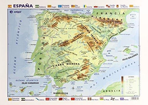 Mapa Escritorio España Físico-Político