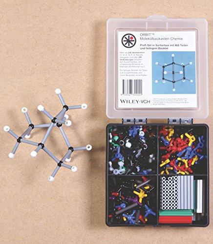 ORBIT Molekülbaukasten Chemie: Profi-Set in Sortierbox mit 460 Teilen und farbigem Booklet