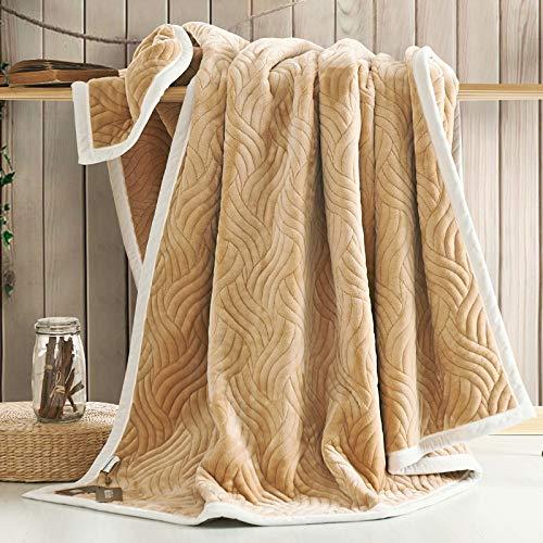 YIWANGO Nimen Double épais Couverture Unique Double Coral Cashmere Blanket Winter Wedding Gift,A4