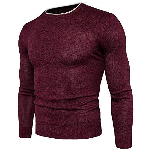 U/A - Sudadera para hombre con cuello redondo y cálido Gules XL