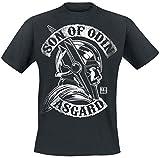 Thor Ragnarok - Son of Odin Hombre Camiseta Negro XL, 100% algodón, Regular