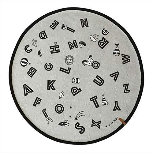 OYOY - Spielteppich, Kinderteppich - ABC, Alphabet - Baumwolle - Ø120 cm