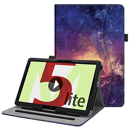 Fintie Funda para Huawei MediaPad M5 Lite 10 - [Multiángulo] Carcasa de Cuero Sintético con Bolsillo Función de Soporte y Auto-Reposo/Activación para Huawei MediaPad M5 Lite 10,1