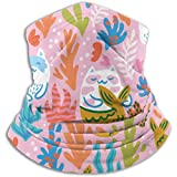 Halswärmer Süße Cartoon Katzen Meerjungfrau Korallen Kinderschal, Hals Gamasche, Halskappe Halbmaske Sturmhaube Kopfbedeckung