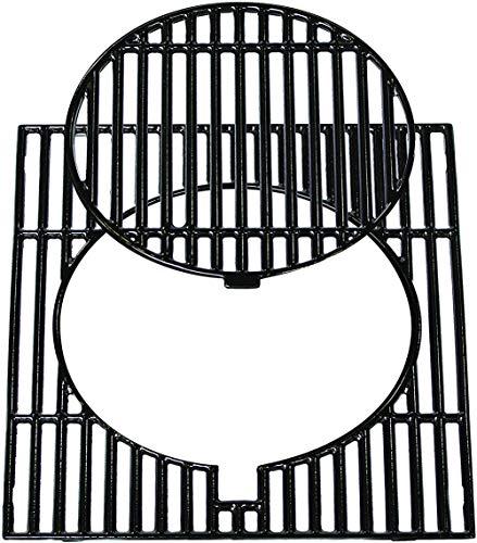 Xyl Parrilla Modular, Red de Barbacoa de Hierro Fundido, Mesa de Barbacoa al Aire Libre Redonda de Esmalte de Hierro Fundido