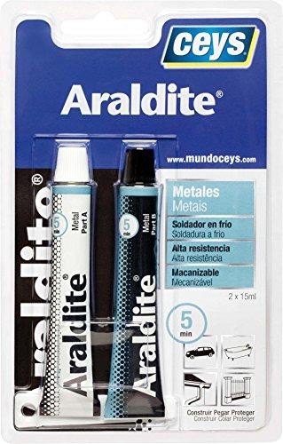 ceys 0 Adhesivo bicomponente metales 47 gr araldit W, 0 V, Azul