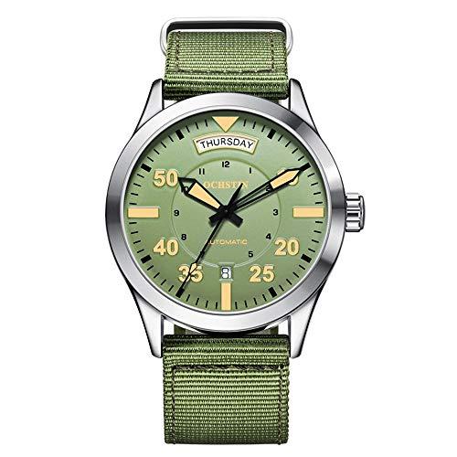 Ochstin, orologio militare a carica automatica, con data, data, uomo, colore: verde