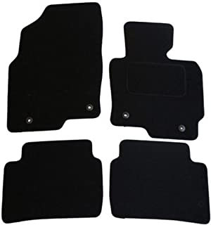 JVL 1350 Alfombrillas Para Coche con 4 Clips Color Negro