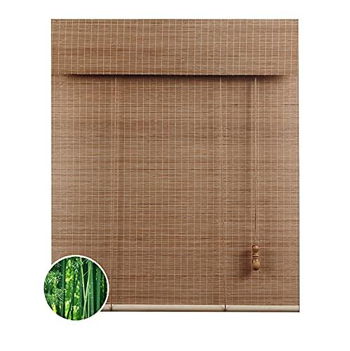 ZXCVASDF Persiana de bambú, Cortina Bambu, Estores Enrollable Bambú, Respirable, Bloqueo de luz, para el Interior del hogar, Oficina, Cocina, con Ganchos, Personalizable,120x120cm/48x48in