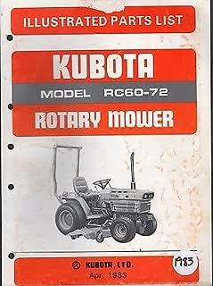 KUBOTA ROTARY MOWER RC60-72 ILLUSTRATED PARTS MANUAL APRIL 1983