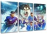 Kassel Eishockey, Fan Artikel Leinwandbild 3Teiler