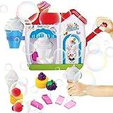 Easy-topbuy Máquina De Burbujas De Baño, Pompas De Jabón De Helado Juguetes De Baño con Ventosas para Niños, Seguros Y No Tóxicos