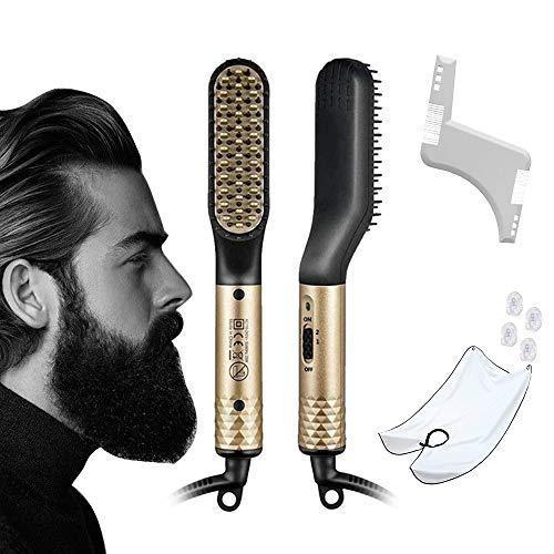 Cepillo Alisador de Barba y Cabello Multifuncional para Hombres Y mujeres, con...