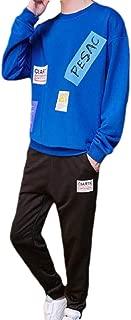 Mogogo Men's Casual Loose Sport 2-Piece Fit Floral Print Pocket Joggers Set