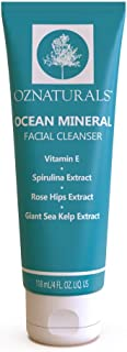 OZNaturals Pore Minimizing Face Wash: Ocean Mineral Facial Cleanser for Oily, Dry, and Sensitive Skin - Gentle Exfoliating Acne Face Wash - Daily Hydrating Facial Cleaner for Men and Women - 4 Fl Oz