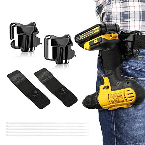 Lenink Tool Holster,2 Pack Drill Holster,Cordless Drill Hook,Power Tool Holder Belt Hook Bit Tote