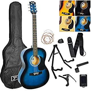3rd Avenue STX10ABBPK2 Pack Premium Guitare Acoustique - Blueburst (B07G5JGPKR) | Amazon price tracker / tracking, Amazon price history charts, Amazon price watches, Amazon price drop alerts