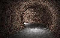 壁の壁画 壁紙 ウォールカバー レンガ壁トンネルスペース 壁画 壁紙 ベッドルーム リビングルーム ソファ テレビ 背景 壁 壁面装飾のための,300x210cm
