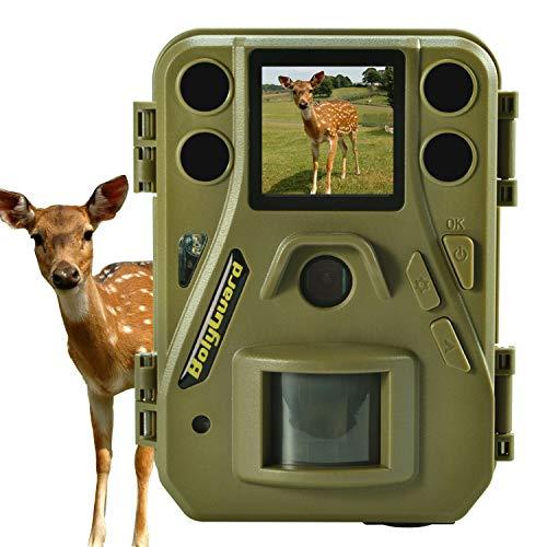 Jagdspur-Wildkamera, 24-Megapixel-Kleinprofilkamera 1080P 100FT und kleinste Scouting-Wildkamera mit schwarzer IR-Beleuchtung auf dem Markt unterstützen Audioaufzeichnung
