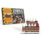 The Army Painter - Zombicide Core Paint Set | Beginner-Set für alle Zombiearten | 10 unseren einzigartigen Tropfflaschen | Plus Highlighting-Pinsel | inkl. gratis Malanleitung