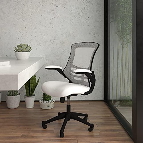 Silla Oficina Ergonomica Blanca Marca Flash Furniture
