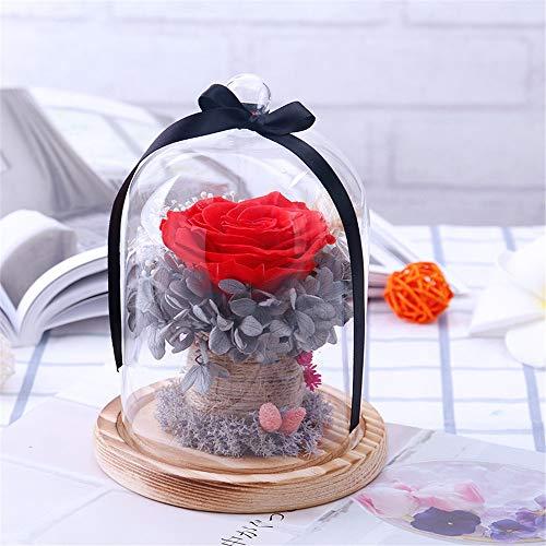 LIYANG Rosa Eterna Preservado la Flor de Rose Hechos a Mano Nunca marchitadas Roses, Rose encantada, Regalos de la Fiesta de San Valentín, Regalos de Boda Regalos De Cumpleaños Románticos para Novia
