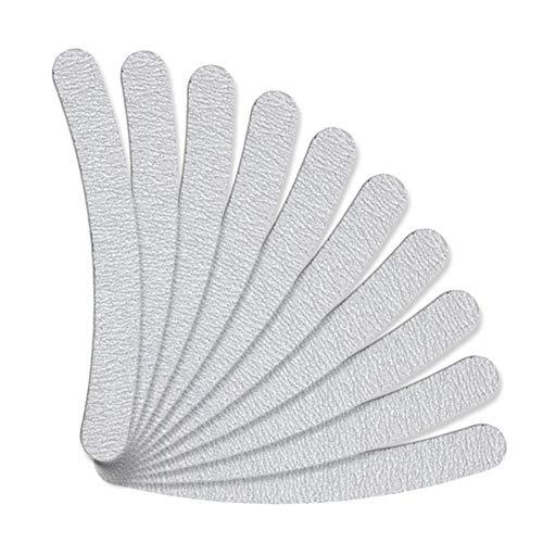 WUYOO 10 limas de uñas profesionales 100/180, herramientas de manicura, de doble cara, pulidor de uñas, bloque de pulido para uñas naturales y de gel