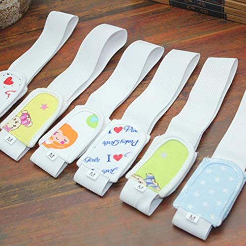 JujubeZAO 6 Stück/Packung verstellbare Baby-Windel-Befestigung mit befestigtem Gürtel für Kleinkinder, Stoffhalter aus Mesh, leicht, atmungsaktiv, mehrere Taschen, bequem Gr. One size, einfarbig