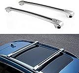 2 Piezas Barras De Techo Portaequipajes para Nissan X-Trail Rogue 2014-2018, Aluminio Barras Transversales Portaequipajes De Bicicleta Capacidad De Carga Accesorios De Estilo De Coche