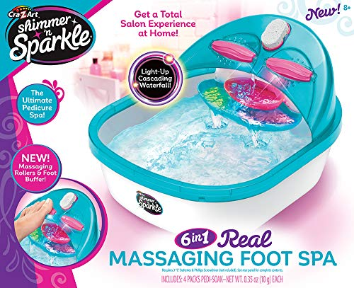 Cra-Z-Art Shimmer 'n Sparkle 6 n 1 Real Massaging Foot Spa, Blue