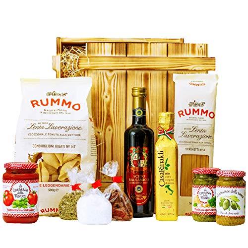 Geschenkset Pisa | Großer Italien Geschenkkorb mit Pasta, Feinkost & italienische Spezialitäten | Delikatessen Präsentkorb italienisch gefüllt für Frauen & Männer