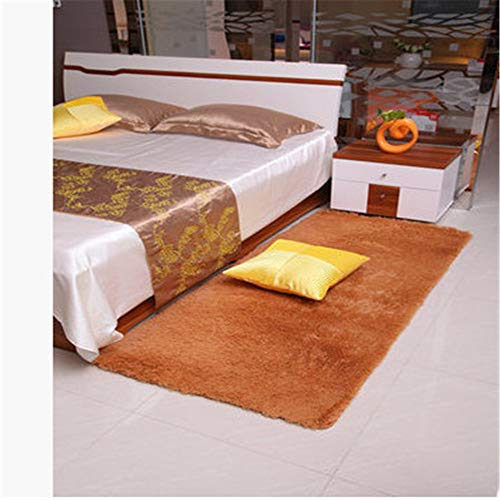 MLKUP Rectangular Coral Velvet Skin-Friendly Mat Four Seasons Coffee Table Bedroom Bedside Foot Pad Suitable For Bedroom Bathroom 100x160cm