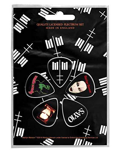 Marilyn Manson Plectrum Pack Mm Logo Nouveau Officiel 5 Pack Guitar Picks