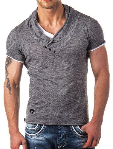 Redbridge by CIPO & BAXX - R-4T1223 Maglietta da uomo anthrazit L