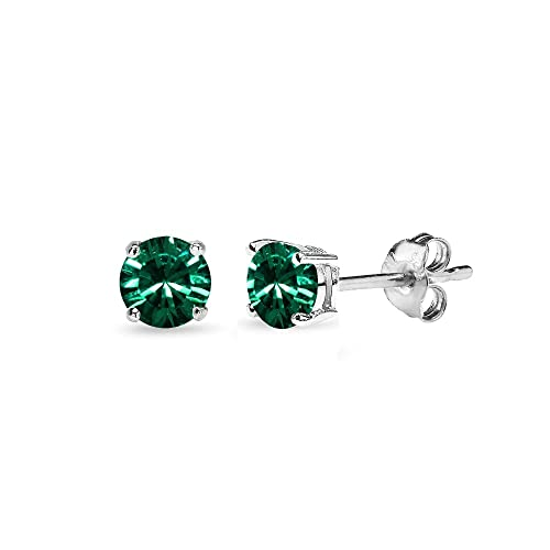 172bed398 Sterling Silver 4mm Stud Earrings Made with Swarovski Crystals
