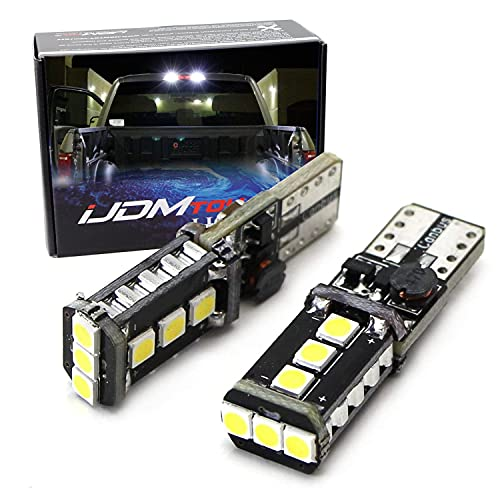 iJDMTOY (2) Xenon White High Power 9-SMD 906 912 920 921 T15 LED Replacement...