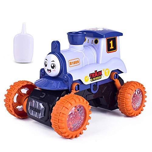 Juguete de tren de truco de vapor, coche eléctrico aerosol, autos de...