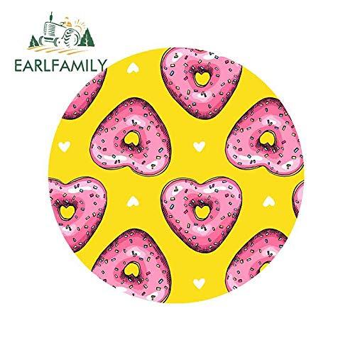 A/X 13 cm x 12,9 cm für Pink Heart Donuts Donuts Auto LKW Aufkleber Stoßstange Fenster Mode Okklusion Scratch Vinyl Aufkleber