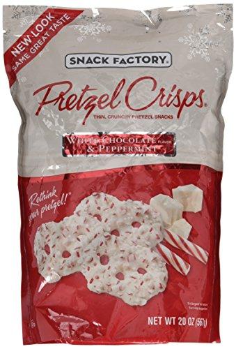 Snack Factory Pretzel Crisps Peppermint Chocolate/White chocolate 20 Ounce