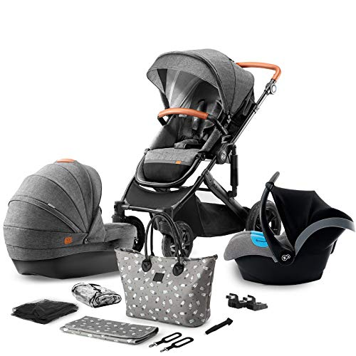 Kinderkraft Pram 3in1 Set Prime 2020, Travel System, Elegant Baby...