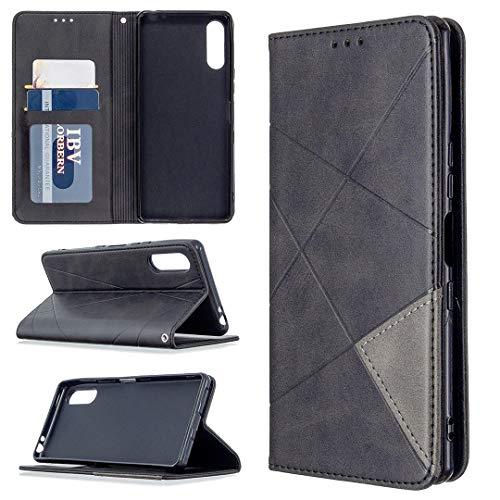 Hongjian Funda para Custodia para Sony Xperia L4 Flip Case Funda de cuero para Custodia por TPU silicona especial Case Cover 4