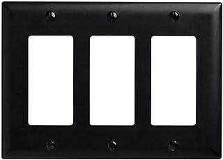Legrand - Pass & Seymour TP263BK Pass & Seymour Tp263-Bk 3G Decor, 3-Gang, Black