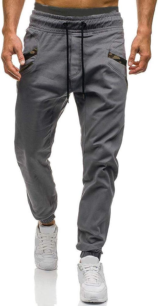 Mens Fashion Athletic Joggers Pants - Sweatpants Trousers Cotton Cargo Pants Mens Long Pants