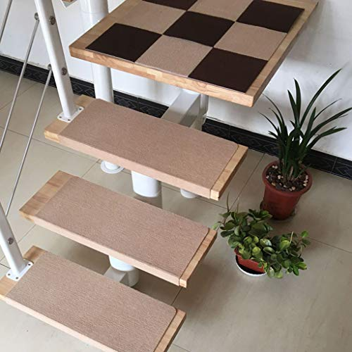 Carpet Stair 15 stuks tapijt-trapmatten, trapbekleding, trapbekleding, trapbekleding tapijt, antislip, zelfklevend, 70 x 22 cm